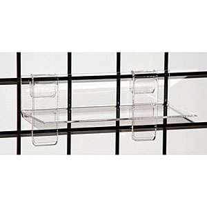 Acrylic grid shelf - 9 inches x 4 inches
