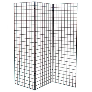 Grid unit - Z shaped with three 2x6 panels - black