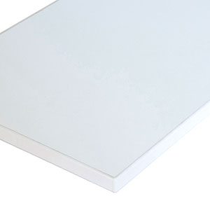 Wood shelf - melamine  12 x 48 white - 3mm edge-banding