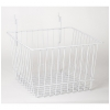 Wire Basket 12w x 12d x 8h - white