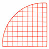 Mini wire grid corner 14 inch - red