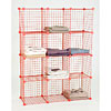Mini wire grid 12 cube unit - red