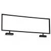Sign holder 22w x 7h topper for square tube - black