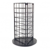 Grid countertop 3 sided spinner display - black