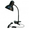 Clip on light fixture - black
